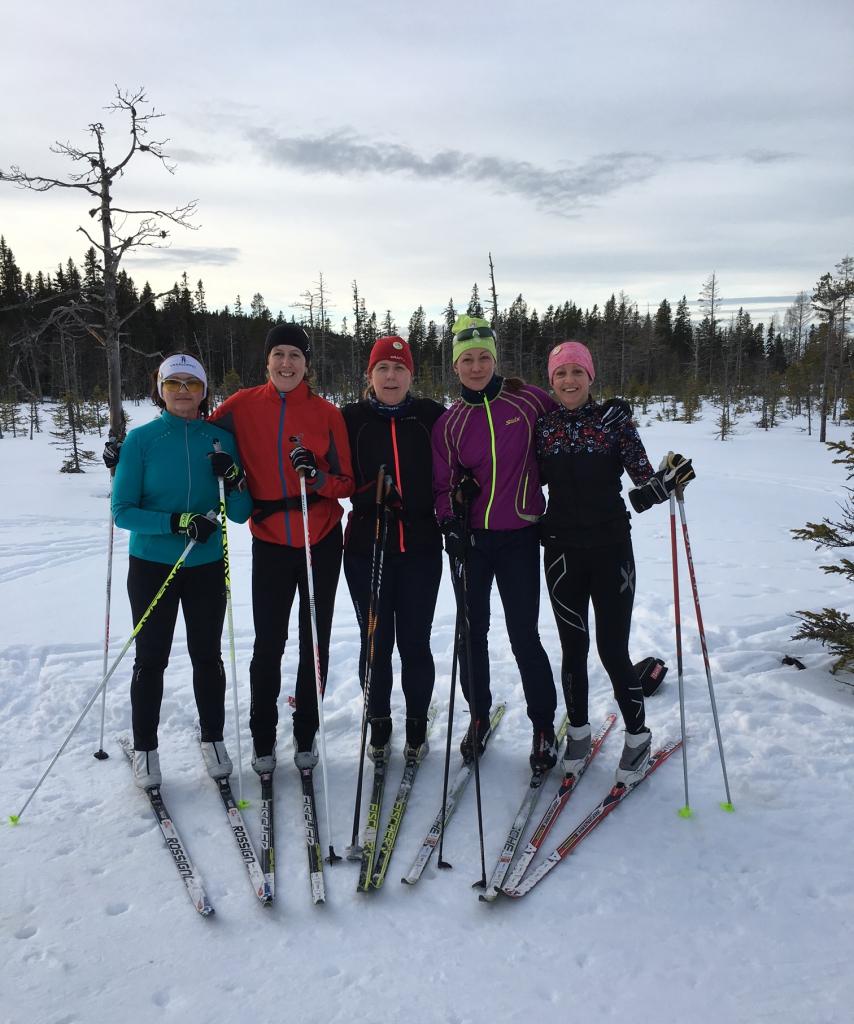 Gänget. En del av dem. Valentina, Ingrid, Anna, Elin och jag.