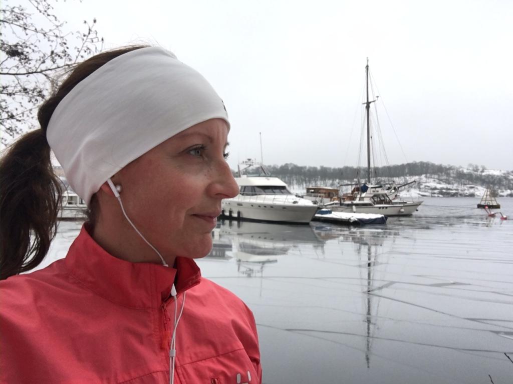 Lunchlöpning Kungsholmen runt. En fin ny rutin. Islossning i Riddarfjärden.