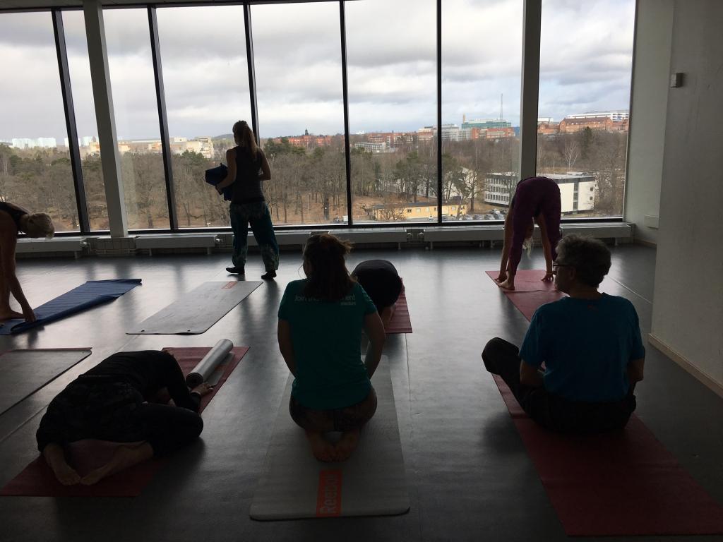 Rofyllt och avslappnat. Lyxigt att få utföra yoga i liten skala.