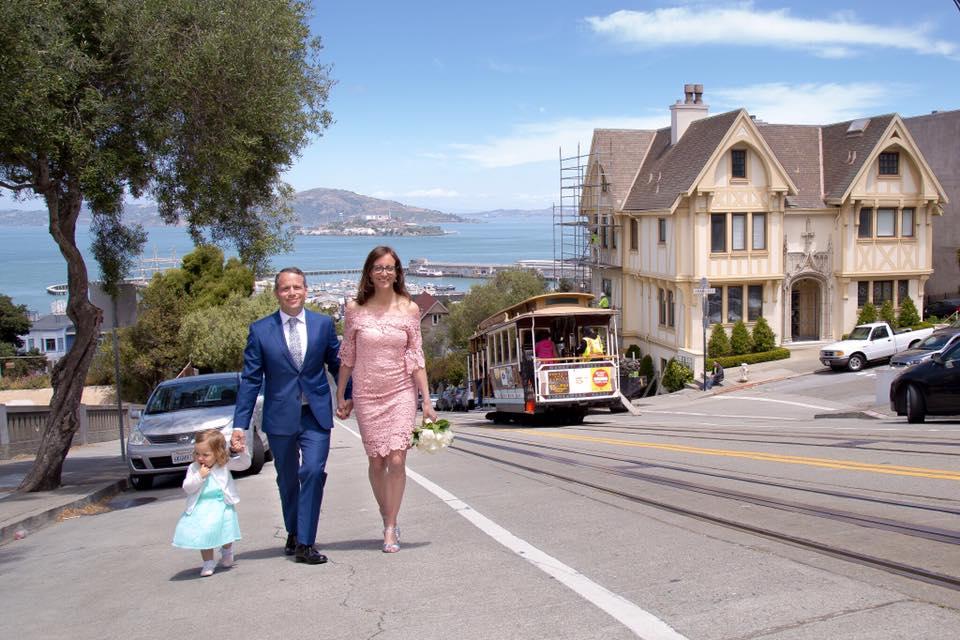 Bröllop i San Fransisco Juni 2017.